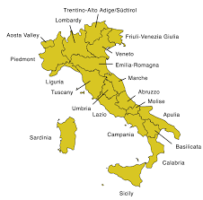 Map Of Ancient Italy by Map Of Italy With Regions Italian Special Interest Group