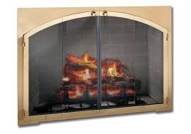 tempered glass for fireplace doors fireplace doors design specialties legend rectangle arch custom