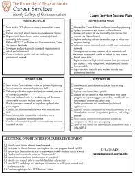 Resume To Work Career Planning Checklist Moody College Of Communication The