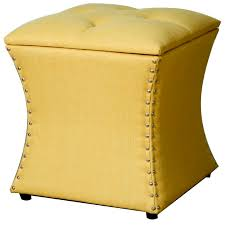 amelia nailhead ottoman persimmon buy online at best price sohomod