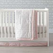 Pink And Gray Nursery Bedding Sets by Crib Bedding Clouds Baby Crib Design Inspiration