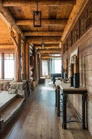 Wooden Interior Montana Luxurious Log Cabin Cedar View Woodz