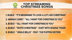 michael buble tops list of streamed christmas songs today com