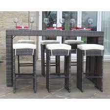 Garden Bar Stool Set by Buy Bermuda Outdoor Brown Rattan Garden Bar Set Seats 6 At