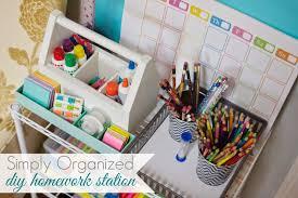 diy free standing homework station simply organized