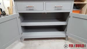 diy sideboard cabinet part 2 fixthisbuildthat