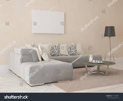 mock poster soft comfortable sofa stylish stock illustration