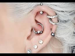 one ear earring how many cartilage ear piercings can fit in one ear quora