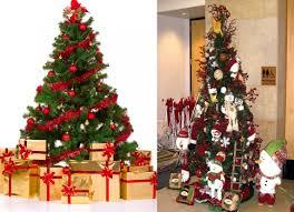 How To Decorate A Christmas Tree How To Decorate Christmas Tree At Home Decor Color Ideas Wonderful