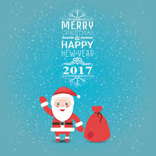 greeting card or invitation merry and happy new year 2017