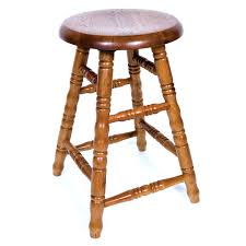 Comfortable Bar Stools Furniture Wooden With Round 24 Inch Bar Stools For Vintage Bar Decor
