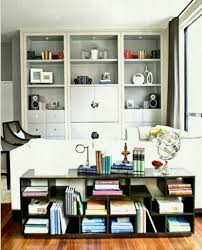 Built In Living Room Furniture Grey Built In Shelves And Black Bookcase For Small Living Room