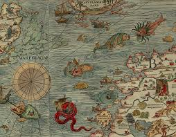 Ancient Map Before Esri U0026 Modern Mapping Sea Creatures Ruled The Seas