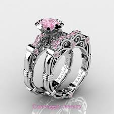 sapphire wedding rings images Caravaggio 14k white gold 1 0 ct light pink sapphire engagement jpg