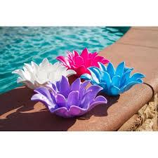Lotus Flower Tea - set of 4 pink light blue purple and white floating lotus flower