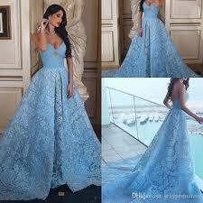 light sky blue spaghetti lace evening dresses 2017 2018 a