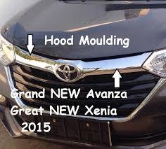 All New Pajero Sport List Kap Mobil Depan Molding Chrome jual moulding list kap mesin depan grand new avanza great