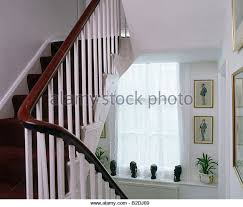 Mahogany Banister Interiors Stairs Banisters Traditional Stock Photos U0026 Interiors
