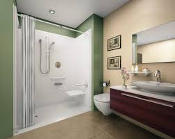 walk in shower ideas for small bathrooms corner burly wood prism