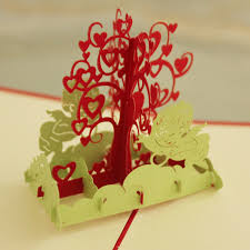 wishing tree cards 10 pieces lot creative kirigami origami card handmade 3d pop up