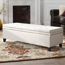 upholstered white benches you u0027ll love wayfair