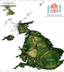 Map Of Britain The Human Shape Of Britain Views Of The World