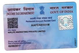 pan card nirlife marketing pvt ltd
