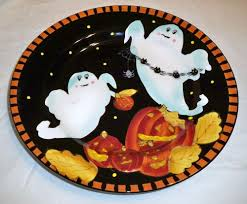 halloween ghost pumpkin laurie gates ware ceramic halloween ghost pumpkin black u0026 orange
