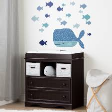 Blue Changing Table South Shore Espresso And Blue Changing Table With