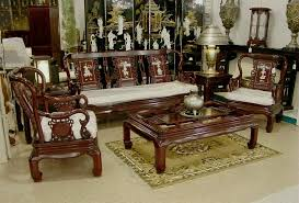 Wooden Sofas Japanese Furniture Living Room Furniture Bronze Statues Bedroom