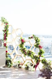 wedding backdrop greenery picture of modern hexagon wedding backdrop with lush greenery and