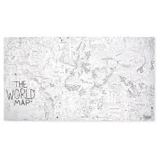World Map Wall Poster by Color Your World Poster Map U2013 Chinaberry Gifts To Delight The