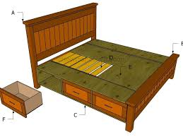King Size Platform Bed Woodworking Plans by Free King Size Bed Frame Plans With Storage