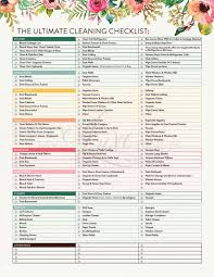 printable house cleaning schedule the ultimate house cleaning checklist printable pdf cleaning