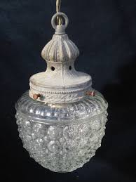 vintage glass pendant light antique pendant light with bubble shade my grandmother had a light