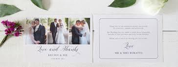thank you cards wedding wedding photo and non photo thank you cards gold and silver foil