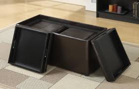 furniture square large ottoman tray in black with black ottoman
