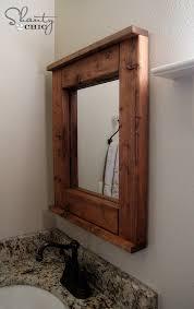 Framing Bathroom Mirrors Diy - wood mirror diy shanty 2 chic