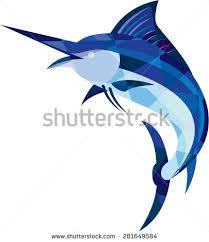 low polygon style illustration blue marlin stock illustration
