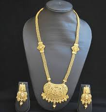 fashion long gold necklace images Buy traditional rajwadi design long necklace set online JPG