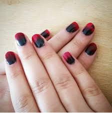 halloween themed red and black ombré nails youtube