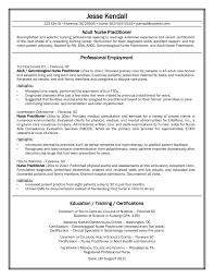 A Job Resume Example by Nurse Practitioner Resume Berathen Com