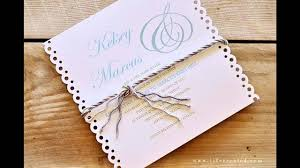 easy simple diy wedding invitation ideas youtube