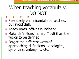 antonyms for isolation four types of vocabulary listening words we understand when