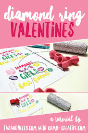 find classmates for free these diy diamond ring valentines with free printable are a real