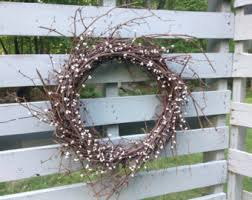 rustic wreath etsy