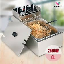 table top fryer commercial electric 2500w 6l deep fryer commercial tabletop restaurant frying