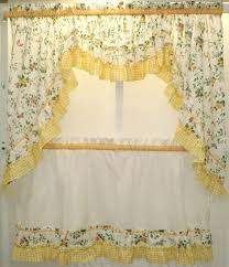 Yellow Kitchen Curtains Valances Yellow Floral Kitchen Curtains The Of Floral Kitchen