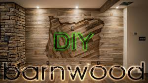 diy barnwood wall installation with some oregon