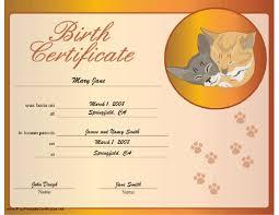 pet rock birth certificate template